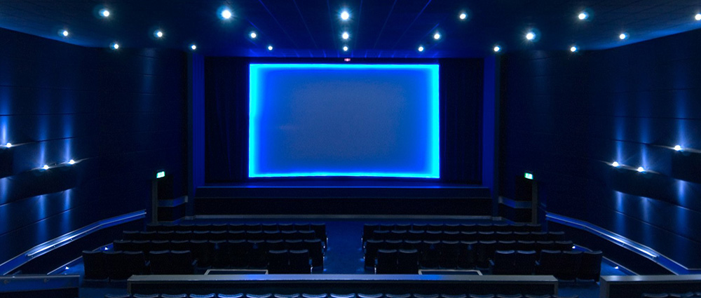 blue cinema screen
