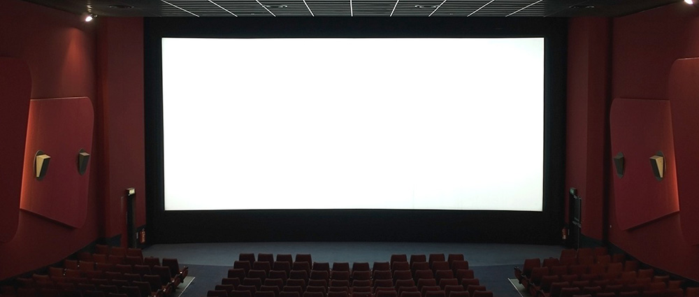cinema white screen