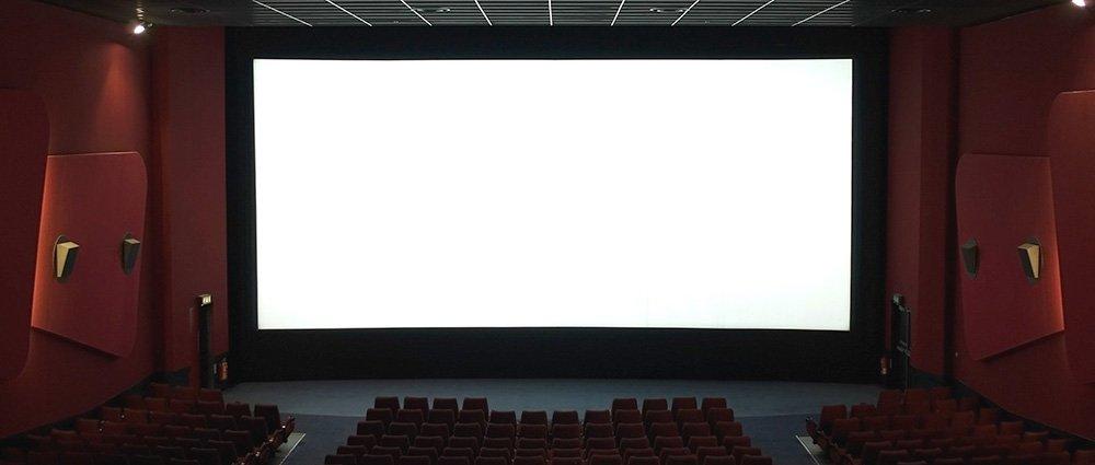 cinema white screen