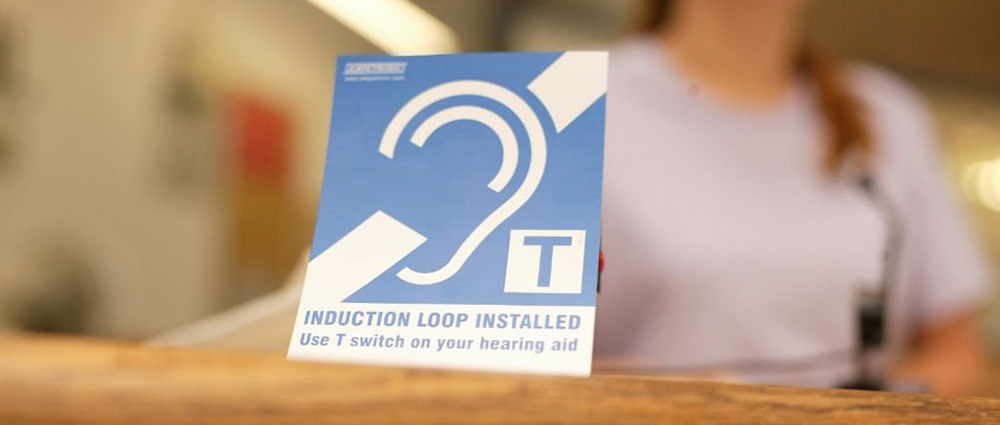 induction loop sign